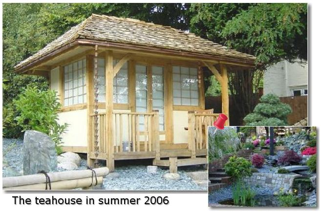 Image gallery japanese teahouse kit for Japanese style garden buildings