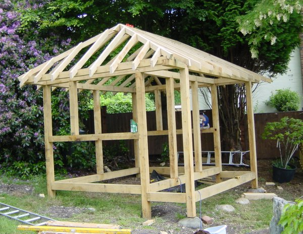 Tell a diy shed roof trusses storage shed design for Japanese style garden buildings
